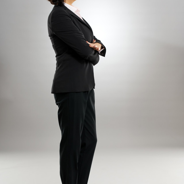 """""""Profile of a businesswoman"""" stock image"""