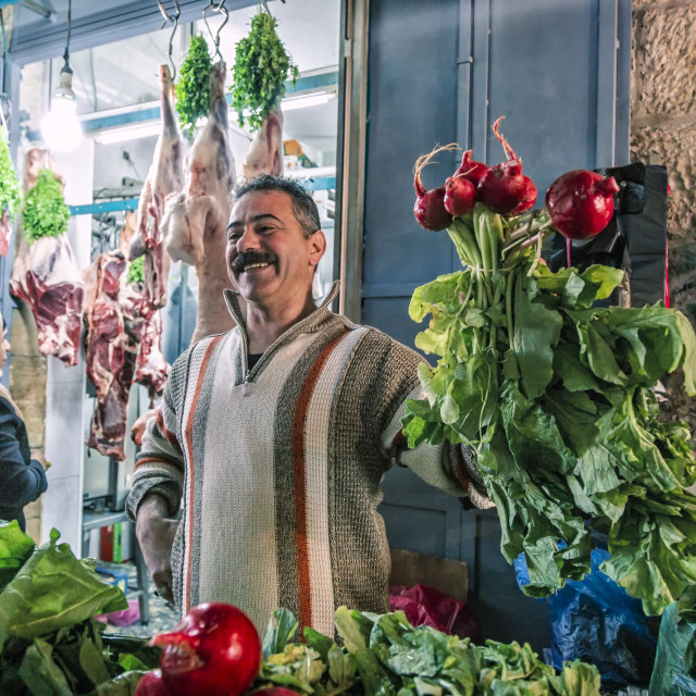 """At The Market"" stock image"