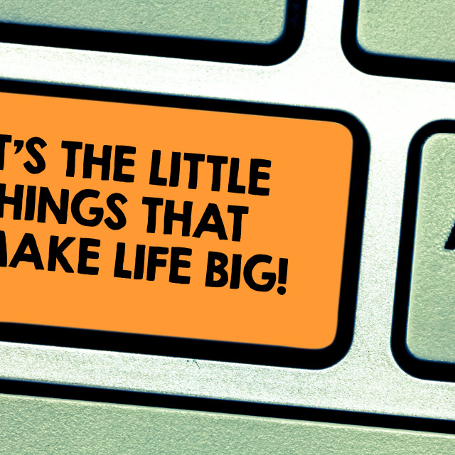 """Handwriting text It S Is The Little Things That Make Life Big. Concept..."" stock image"