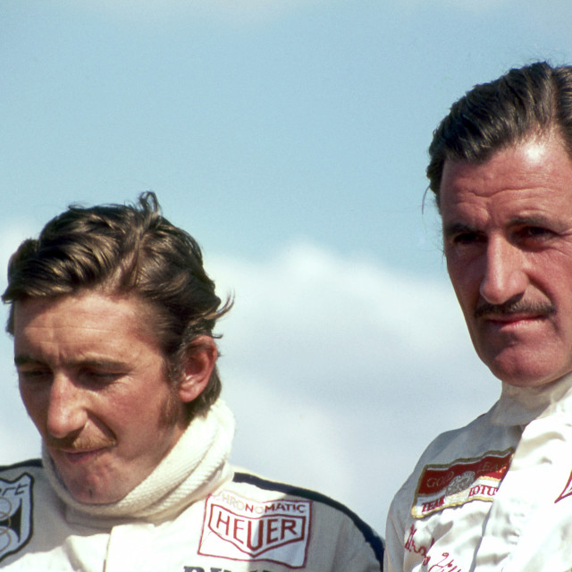"""""""Jo Siffert and Graham Hill 1969"""" stock image"""