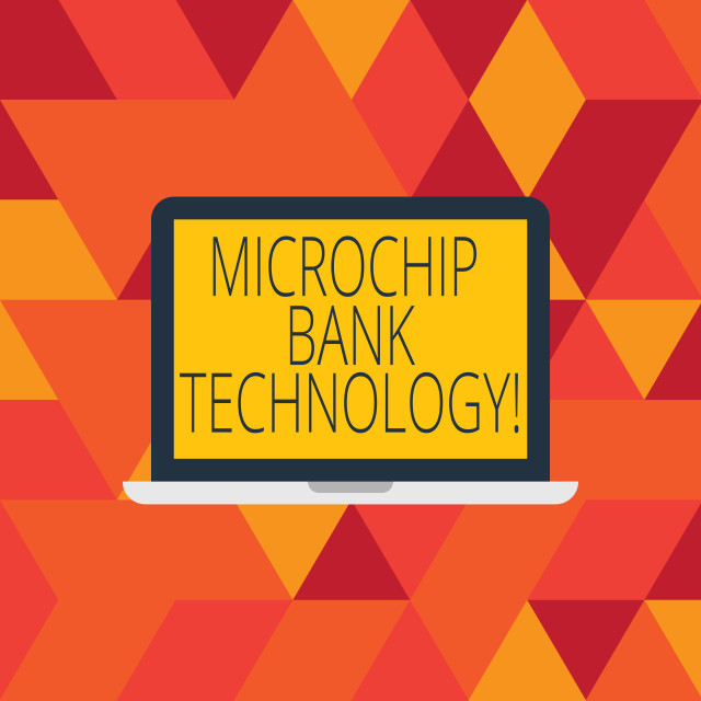 """Word writing text Microchip Bank Technology. Business concept for Binary..."" stock image"