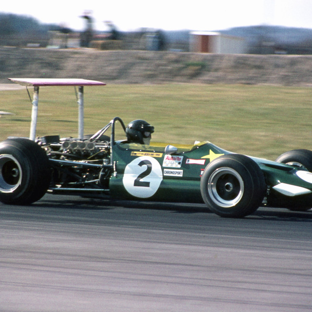 """""""Jochen Rindt Lotus F2 Thruxton 1969"""" stock image"""
