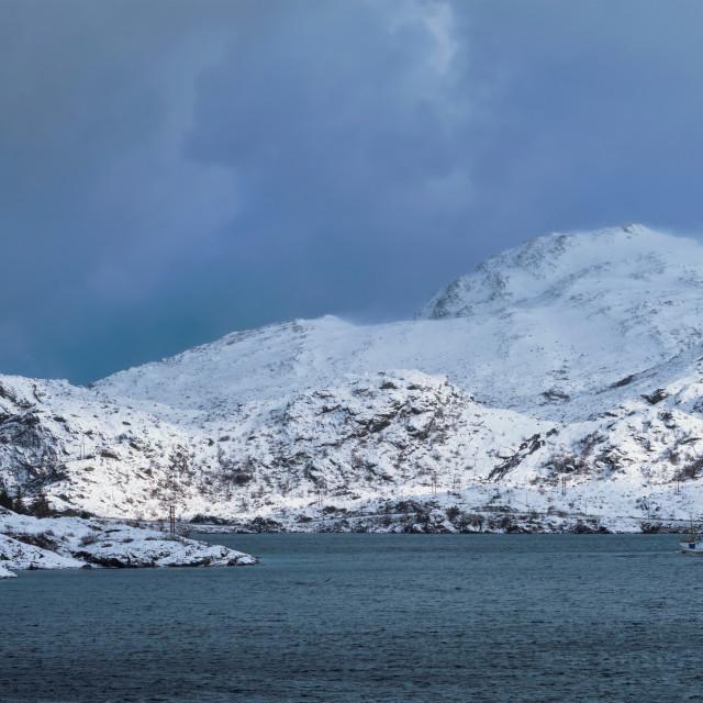 """""""Norwegian fjord in winter"""" stock image"""