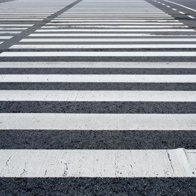 """Crosswalk pedestrian crossing in the street"" stock image"