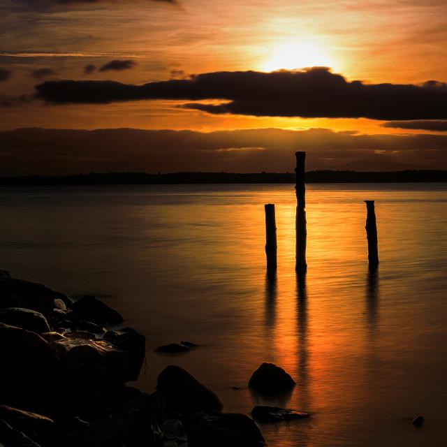 """""""Strangford lough sunset."""" stock image"""