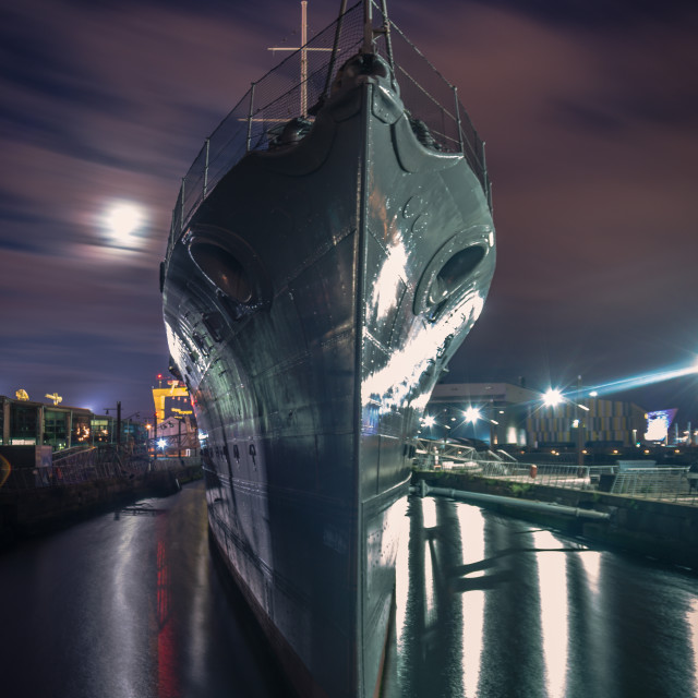 """Boat in Belfast,"" stock image"