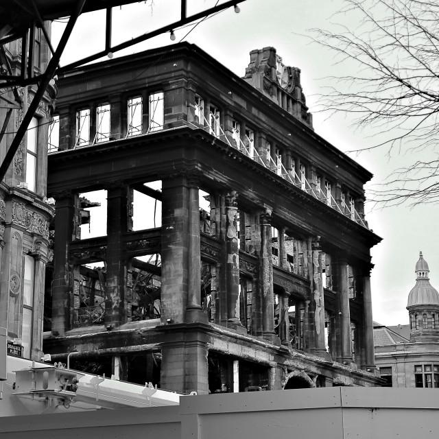 """""""Burnt Building Belfast,"""" stock image"""