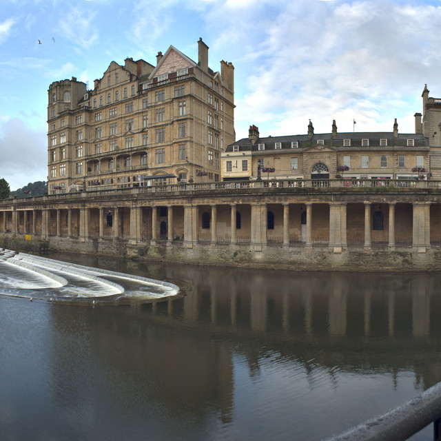"""Pulteney Weir - City of Bath"" stock image"