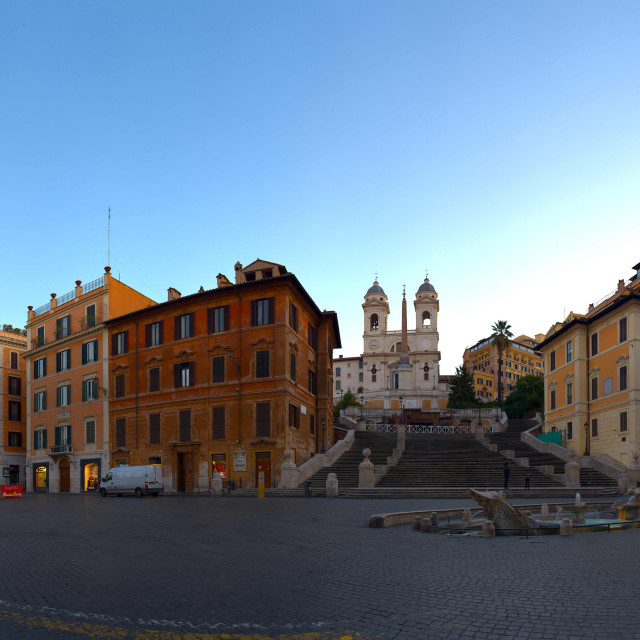 """Early Morning at the Spanish Steps - Rome"" stock image"