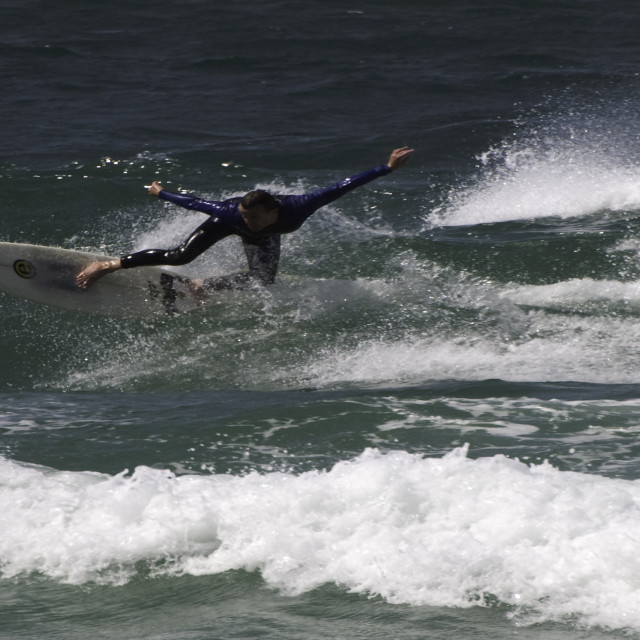 """Surfing on the Gold Coast - Australia"" stock image"