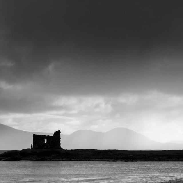 """Ballinskelligs Silhouette"" stock image"