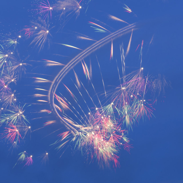 """""""Helicopter fireworks"""" stock image"""