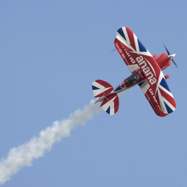 """""""Richard Goodwin and his Pitts Special"""" stock image"""