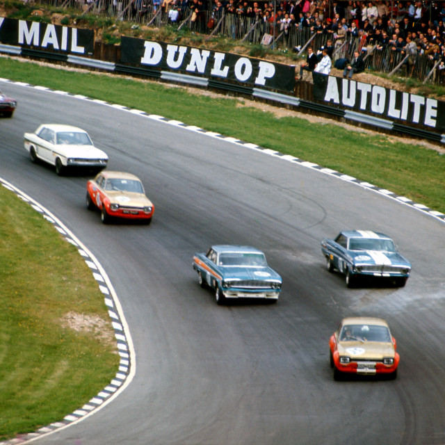 """""""Touring Car Race Brands Hatch 1969"""" stock image"""