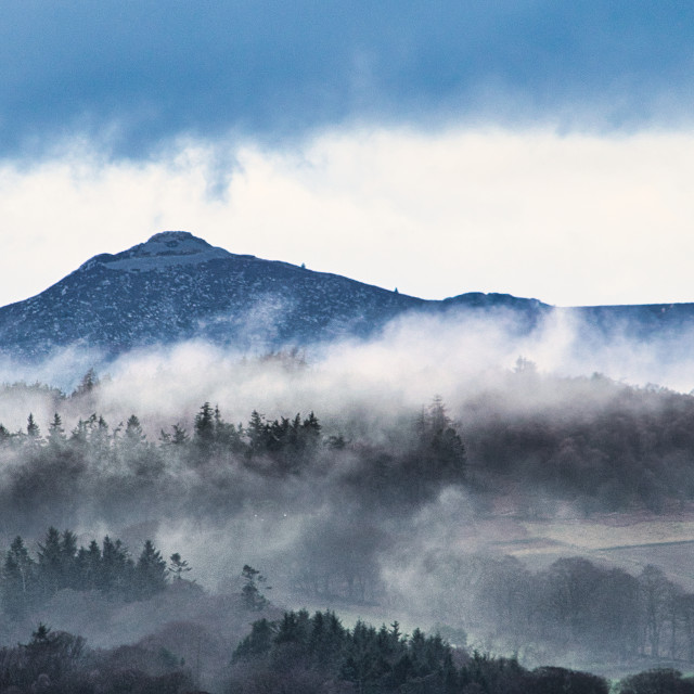 """Mist in front of Bennachie"" stock image"