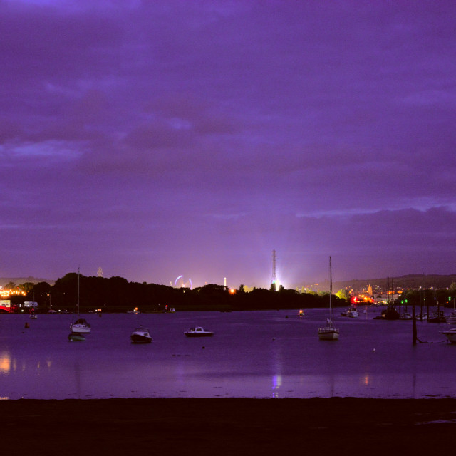 """""""Isle of Wight Festival at Blue Hour"""" stock image"""