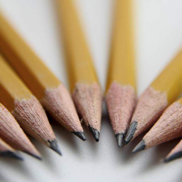 """sharp pencils"" stock image"
