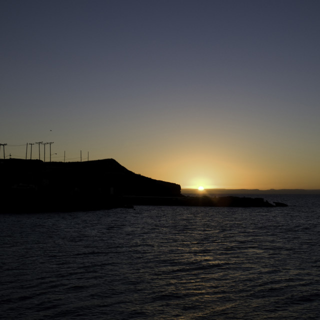 """Sunset over LaPaz - Baja California Sur"" stock image"