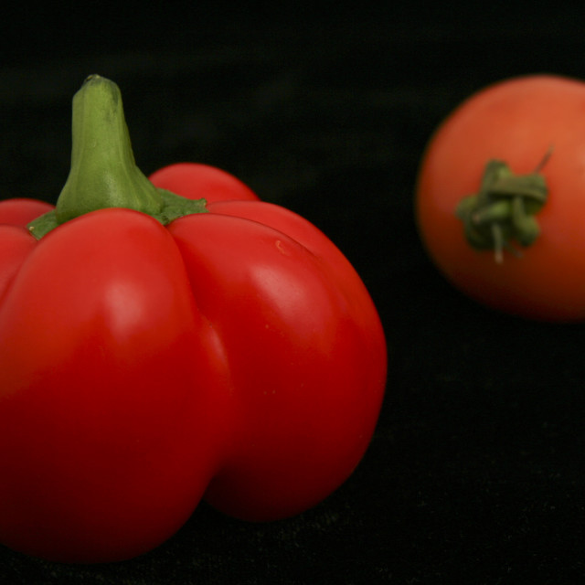 """""""Bell Pepper and Tomato"""" stock image"""