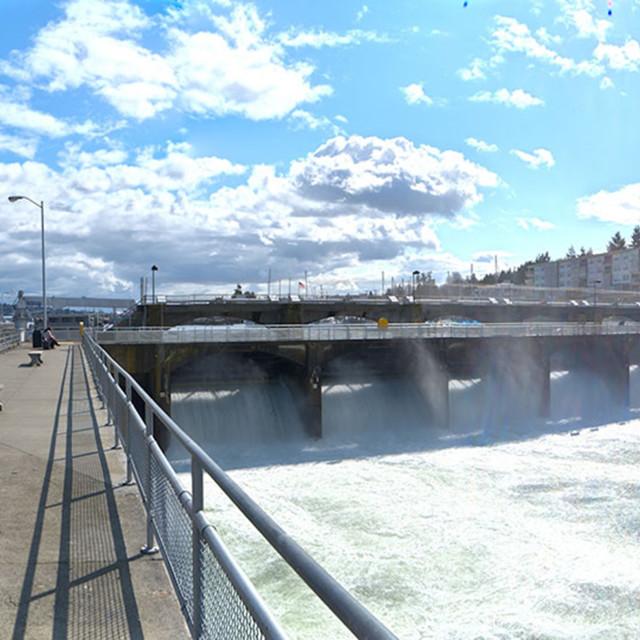 """Ballard Locks - Seattle"" stock image"