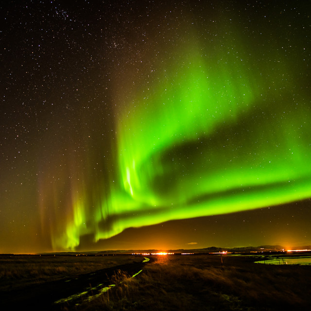 """Aurora in Iceland"" stock image"