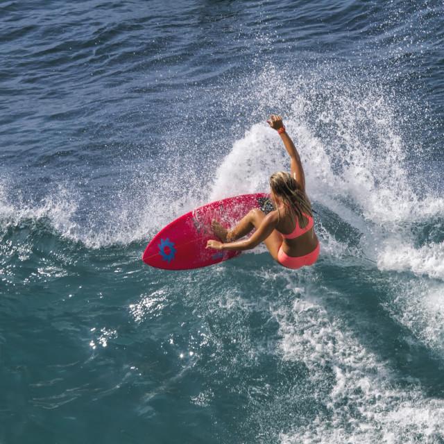 """""""Surfer Girl"""" stock image"""