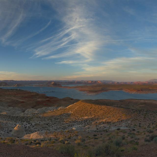 """""""Sunset over Glen Canyon _ Page Arizona"""" stock image"""