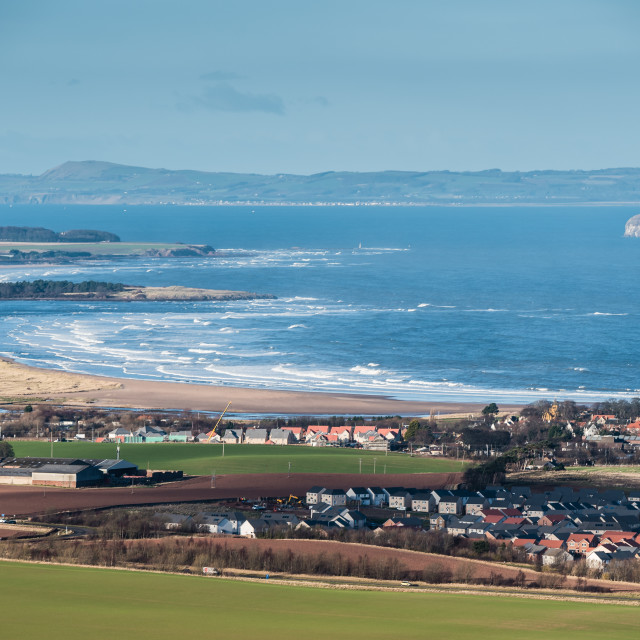 """Belhaven Bay and Bass Rock"" stock image"