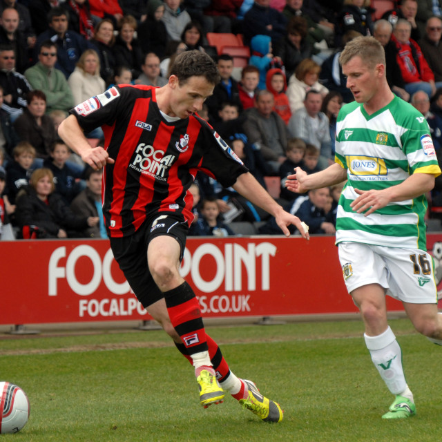 """""""Football - League One - Bournemouth vs. Yeovil"""" stock image"""