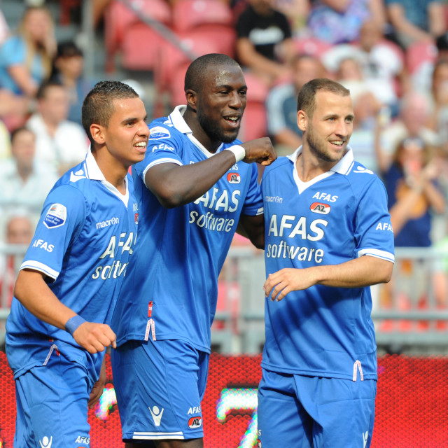 """Eredivisie AFC Ajax vs AZ Alkmaar Amsterdam 12 Aug 2012"" stock image"