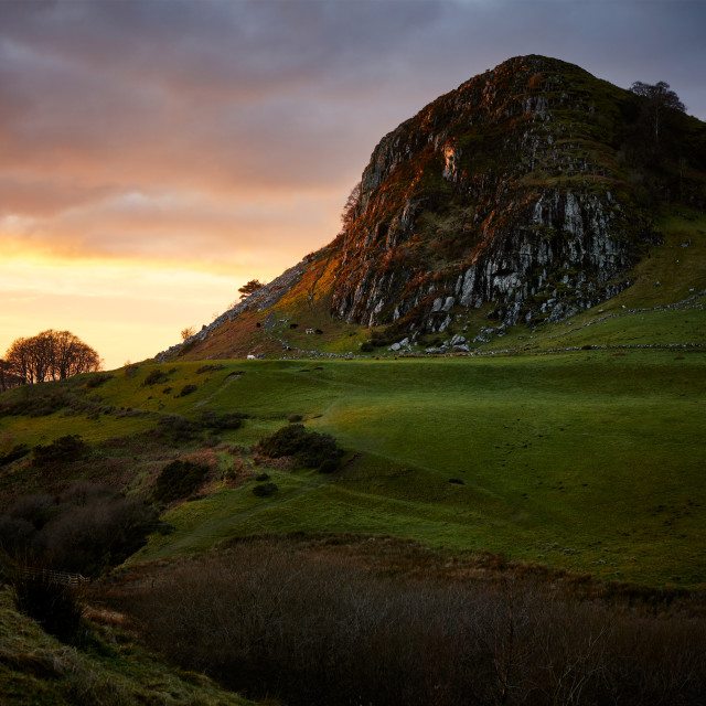 """Loudoun Hill Sunset"" stock image"