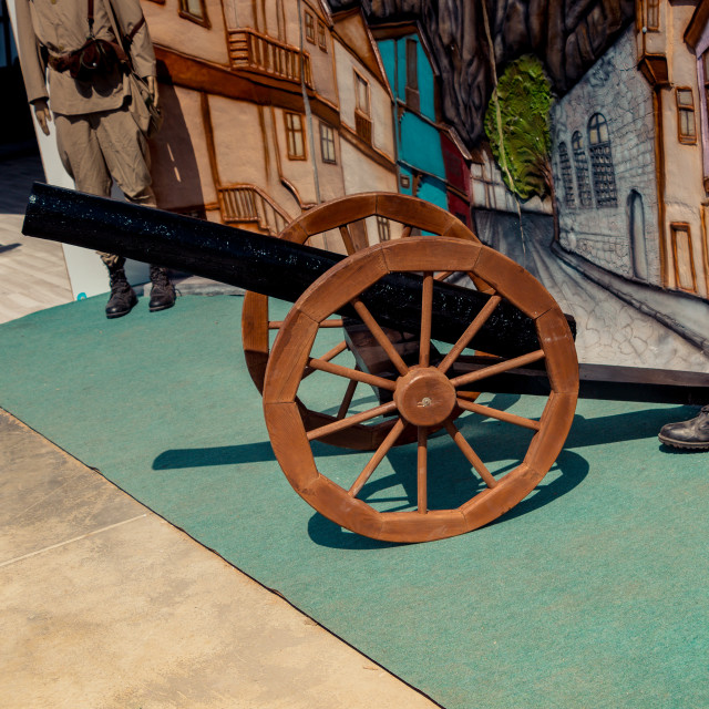 """Antique Ottoman canons in a museum on display"" stock image"