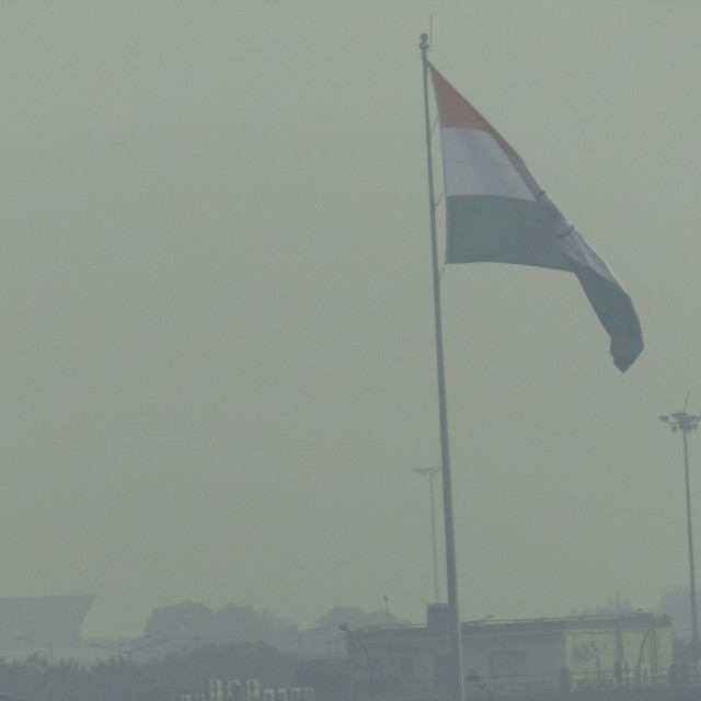 """""""Smog in India at morning time"""" stock image"""