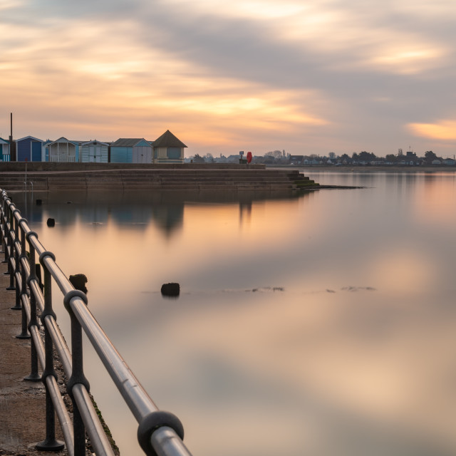 """""""Tranquility Over Brightlingsea"""" stock image"""