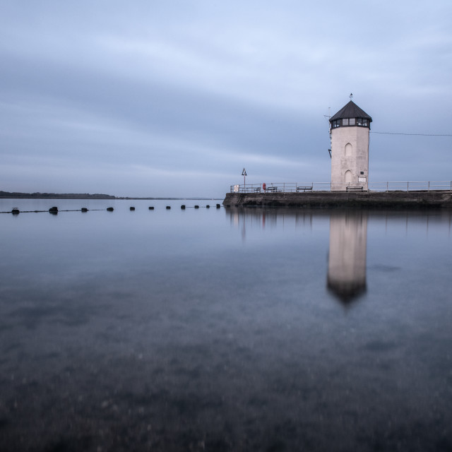 """""""Reflection of Batemans Tower"""" stock image"""
