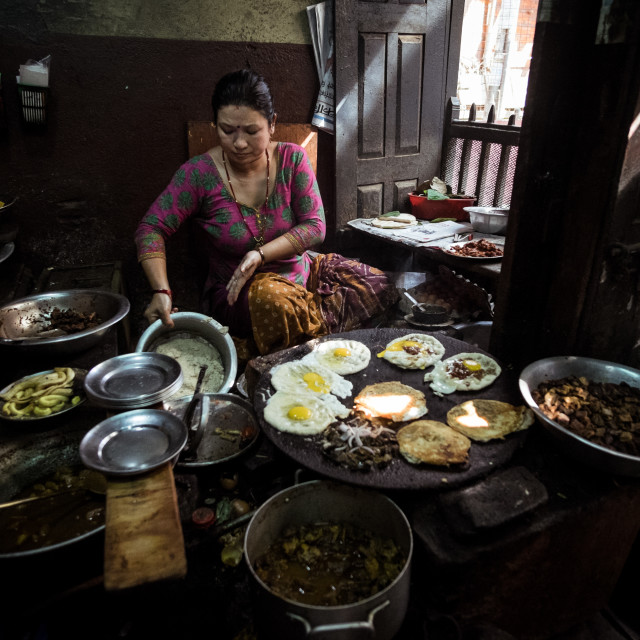 """Nepalese cooking"" stock image"