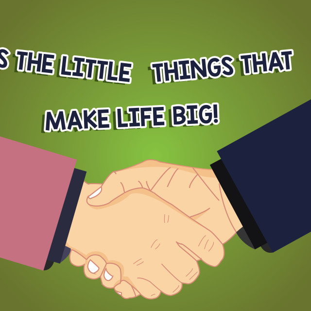 """Conceptual hand writing showing It S Is The Little Things That Make Life Big...."" stock image"