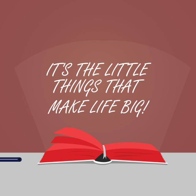 """Word writing text It S Is The Little Things That Make Life Big. Business..."" stock image"