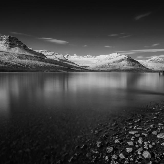 """Calm Fjord"" stock image"