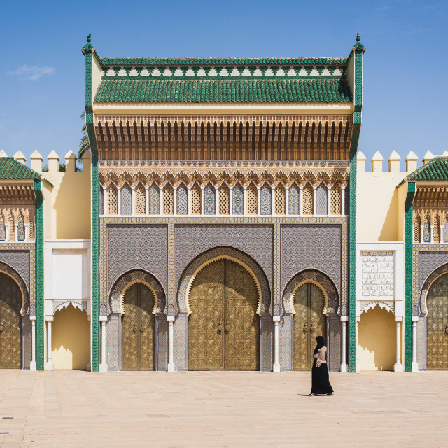 """Royal Palace of Fez"" stock image"