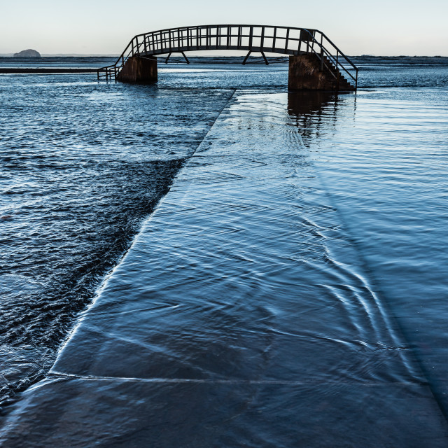 """High Tide in Belhaven Bay"" stock image"