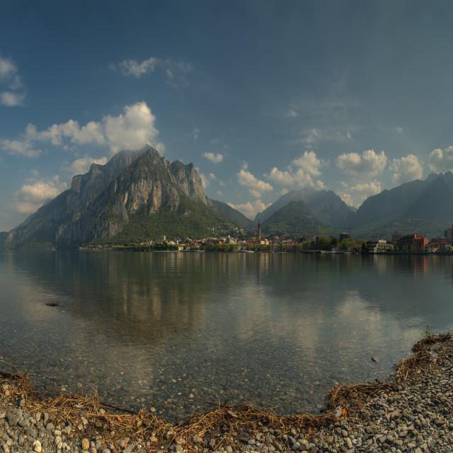 """""""Panoramic Vista Lake Como"""" stock image"""