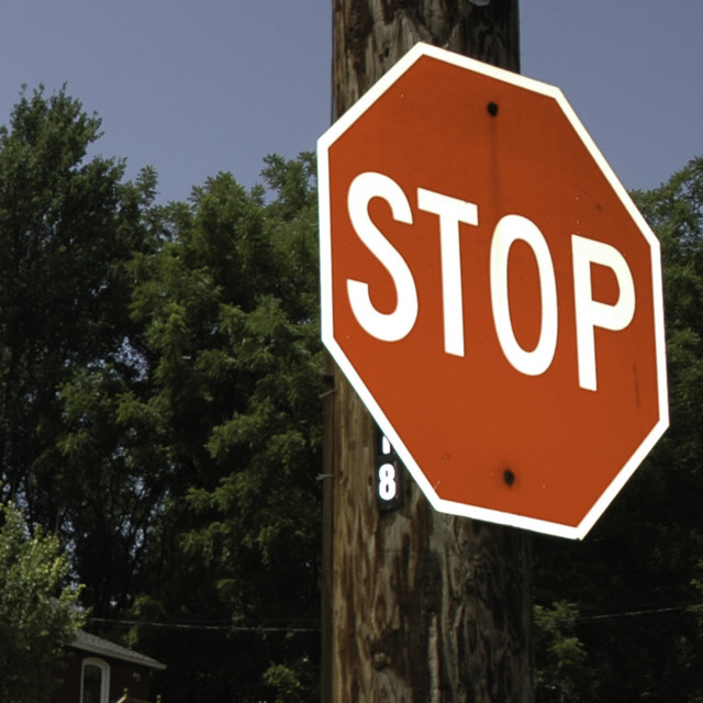 """STOP !"" stock image"