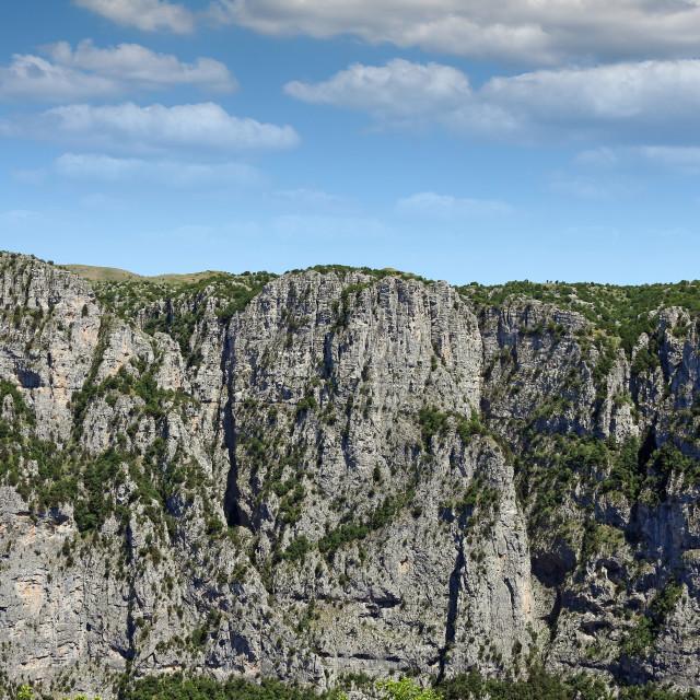 """""""Vikos gorge mountains Zagoria Greece landscape"""" stock image"""