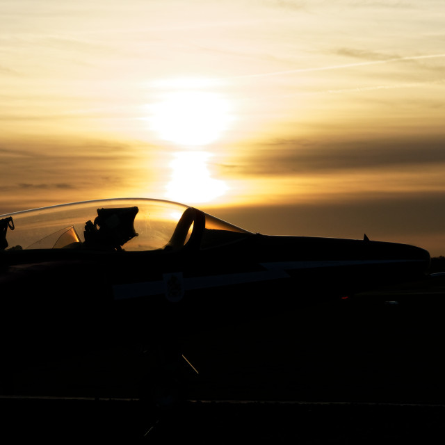 """A Gnat's Whisker Before Sunset"" stock image"