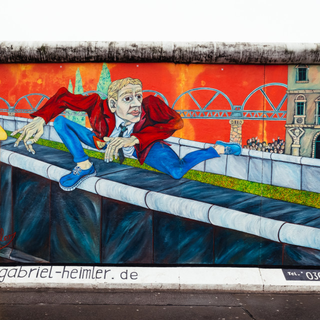 """East Side Gallery"" stock image"