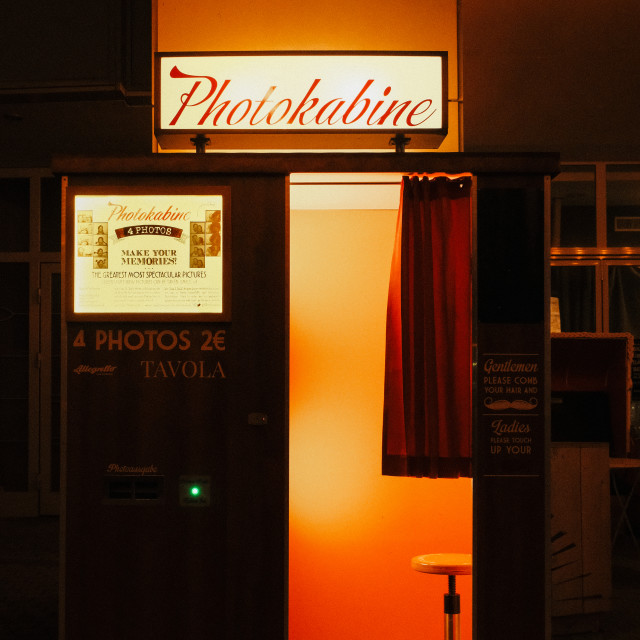 """Photoautomat in Berlin"" stock image"