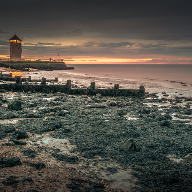 """Brightlingsea - Batemans Tower Sunrise"" stock image"