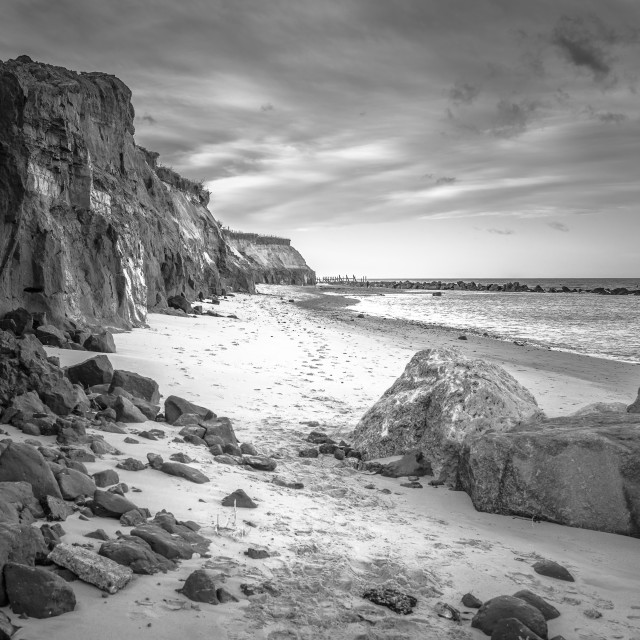 """Happisburgh Beach"" stock image"