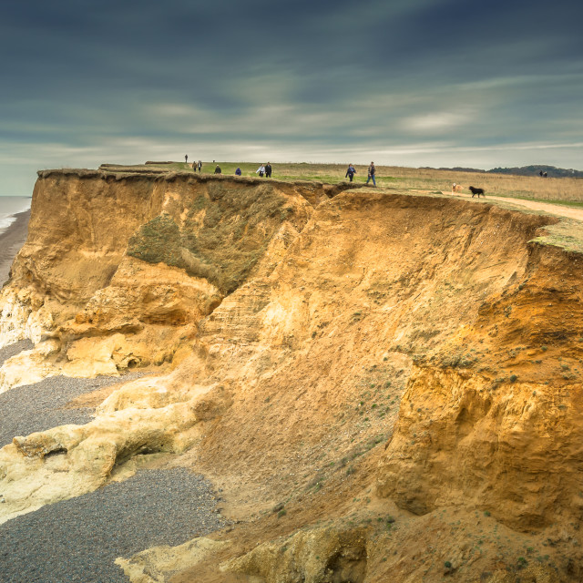 """Weybourne Cliffs"" stock image"